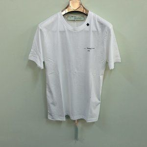 """Off-White Men White Short Sleeve T-Shirt """"L"""""""